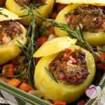 البطاطس المحشية باللحم منال العالم