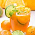 عصير البرتقال بالليمون والنعناع منال العالم