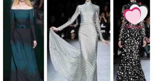 اختيارات انا وياك لفساتين السهرات ذات الأكمام الطويلة