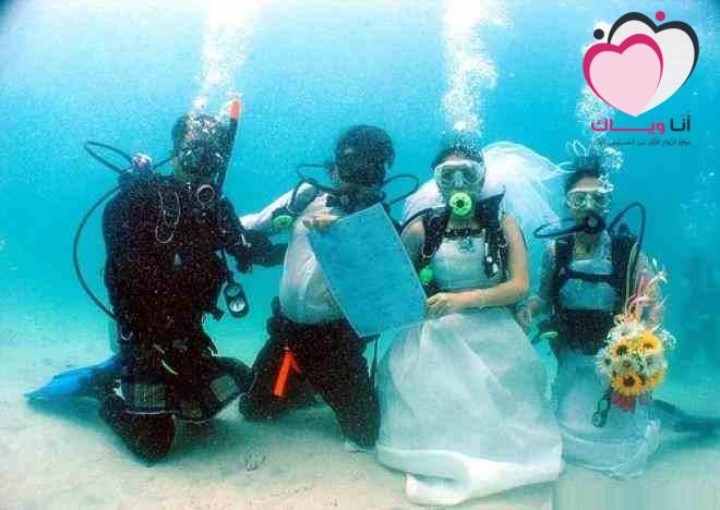 حفل زواج لكن !! فى اعماق البحار